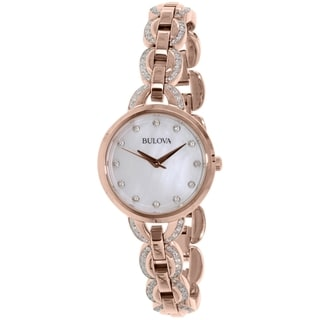 Bulova Women's 98L207 Rose Gold Stainless-Steel Quartz Watch