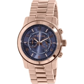 Michael Kors Men's Large Runway MK8358 Rose Gold Stainless-Steel Quartz Watch