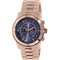 Michael Kors Men's MK8358 'Watch Hunger Stop' Chronograph Rose-Tone Stainless Steel Watch