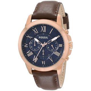 Fossil Men's Grant FS5068 Brown Leather Quartz Watch|https://ak1.ostkcdn.com/images/products/10459548/P17551334.jpg?impolicy=medium