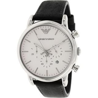 Emporio Armani Men's Classic AR1807 Black Leather Quartz Watch