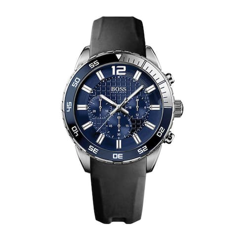 Hugo Boss Men's 1512803 Black Leather Quartz Watch