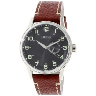 Hugo Boss Men's Brown Leather Quartz Watch