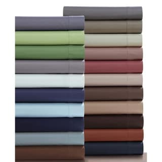 Extra Deep Pocket Sateen 750 Thread Count Cotton Sheet Set with Oversize Flat Sheet