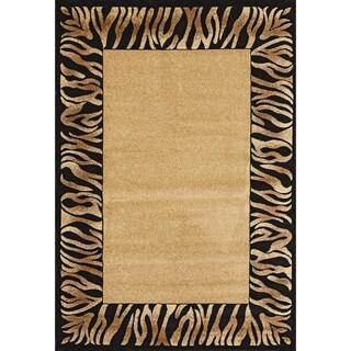 Renaissance Tiger Border Area Rug (2 x 3'11)