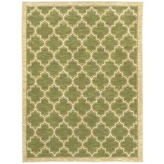 Renaissance Green Lattice Area Rug (2 x 3'11)