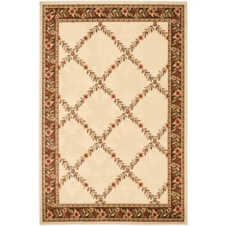Renaissance Ivory/Brown Floral Lattice Area Rug (2 x 3'11)