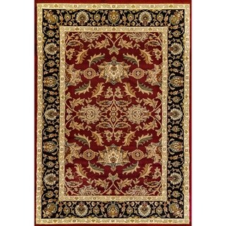 Renaissance Red Traditional Border Area Rug (3'3 x 5'3)
