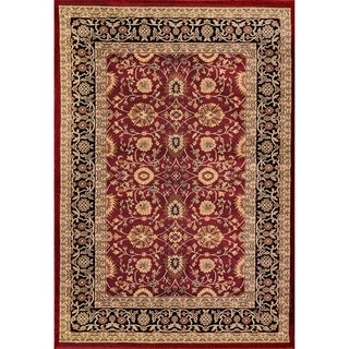 Renaissance Red/Black Traditional Print Area Rug (3'3 x 5'3)
