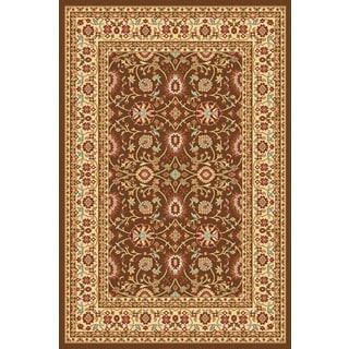 Renaissance Brown/Cream Traditional Print Area Rug (3'3 x 5'3)
