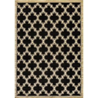 Renaissance Black Lattice Area Rug (3'3 x 5'3)