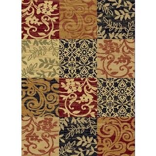 Renaissance Floral Color Block Area Rug (5'3 x 7'7)