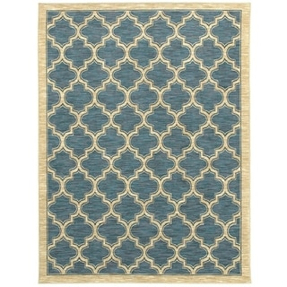 Renaissance Slate Lattice Area Rug (5'3 x 7'7)