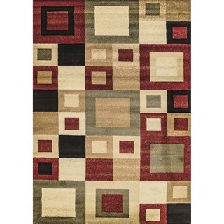 Renaissance Color Block Area Rug (5'3 x 7'7)