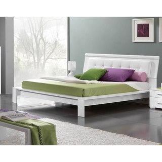 Luca Home Contemporary White Platform Bed