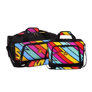Loudmouth Captain Thunderbolt 2-piece Carry-on Duffel and Tote Bag Set