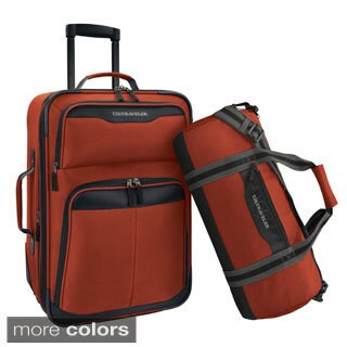 U.S. Traveler by Traveler's Choice 2-piece Carry-on Rolling Upright and Duffel Bag Luggage Set (3 options available)