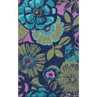Juniper Blue Floral Area Rug (3' x 5')