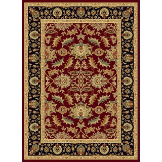 Renaissance Red Traditional Border Area Rug (2 x 3'11)