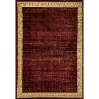 Renaissance Red Contemporary Border Area Rug (2 x 3'11)