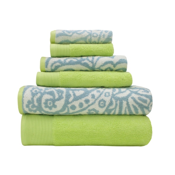 Amrapur Overseas Combed Cotton Yarn-dyed Paisley 6-piece Towel Set