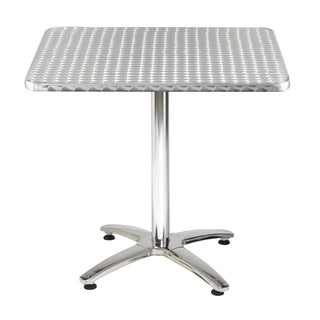 KFI Seating 32in Square Stainless Steel X-base Pedestal Table