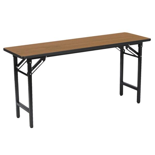 18 inch x 60 inch medium oak folding utility training for Table cuisine 60 x 60