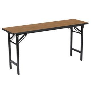 18 Inch X 60 Inch Medium Oak Folding Utility/ Training Table
