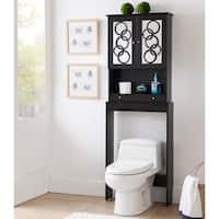 Furniture of America Landers Wood Space Saver Cabinet