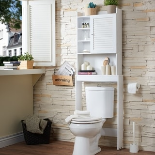 white bathroom cabinets. Furniture Of America Sylvia Modern White Space Saver Cabinet Bathroom Cabinets