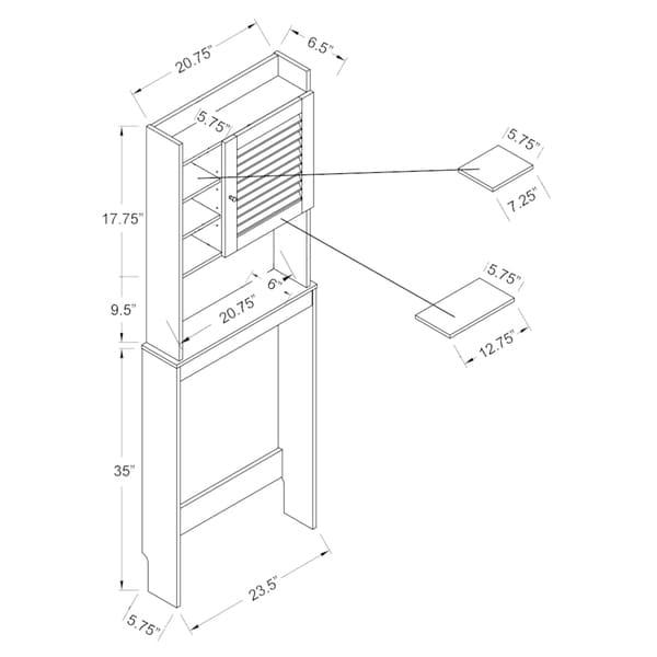 Furniture of America Cula Modern White Space-saver Cabinet