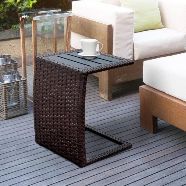 Furniture of america tellory espresso wicker inspired for Furniture of america architectural inspired dark espresso coffee table