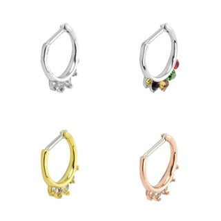 Supreme Jewelry Septum Clicker with Stones - Multiple Color Options
