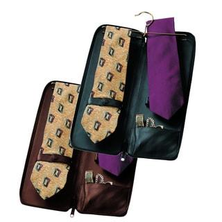 Royce Leather Luxury Travel Tie Case and Cufflink Storage