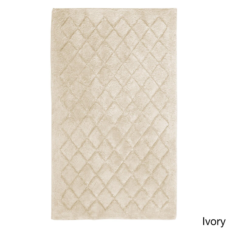Avanti Solid Color Bathroom Bath Rug (27 x 45) (Ivory), B...