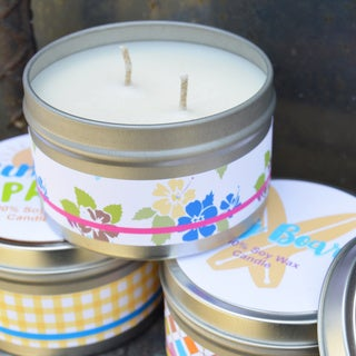 Soy Wax Tropical Scented Candles in 8-ounce Tins (Set of 3)