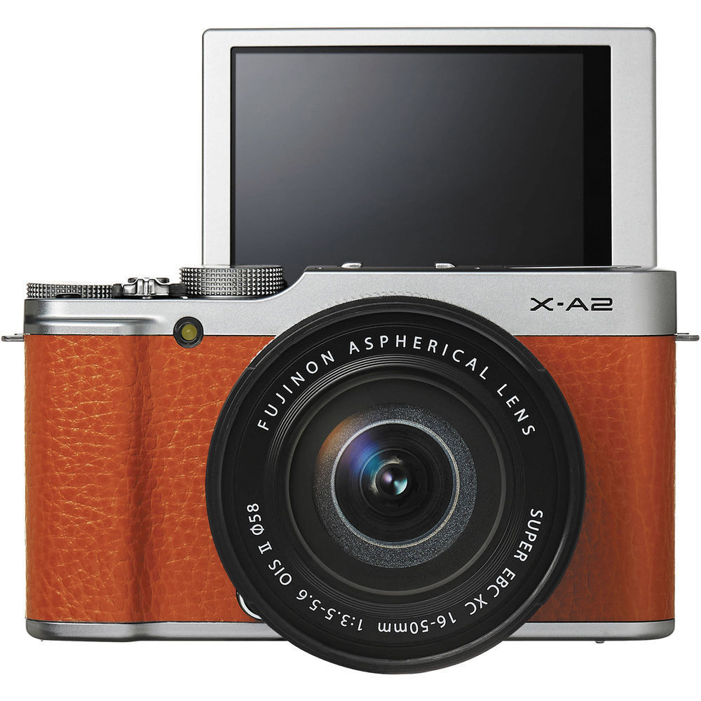 Fuji X-A2 Mirrorless Digital Camera with 16-50mm Lens (Br...