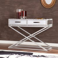 Silver Orchid Olivia Mirrored Sofa/ Console Table