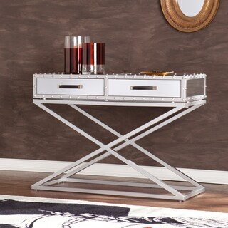 Harper Blvd Carollton Industrial Mirrored Sofa/ Console Table