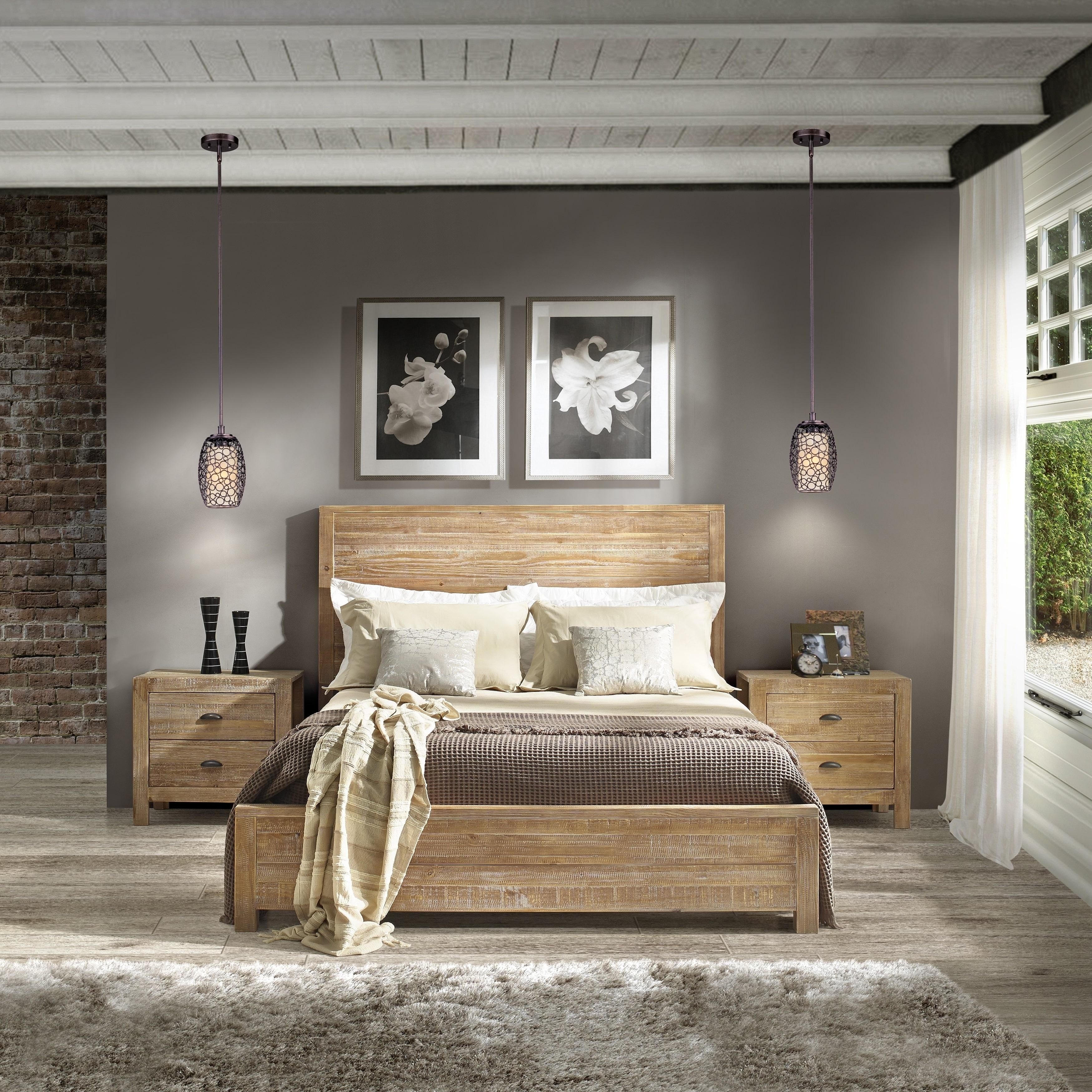 Grain Wood Furniture Montauk Queen-size Solid Wood Panel Bed