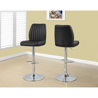 Wasatch Dark Brown Leather Barstools Set Of 2 Free