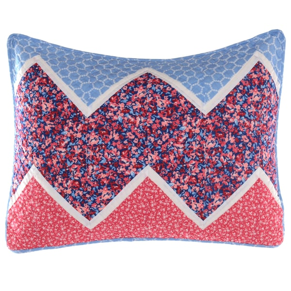 Laura Ashley Ainsley Navy Quilted Sham