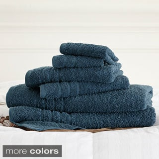 Amraupur Overseas Cotton 6-piece Solid Towel Set