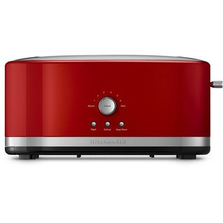 KitchenAid KMT4116ER Empire Red 4-slice Long Slot Toaster with High Lift Lever