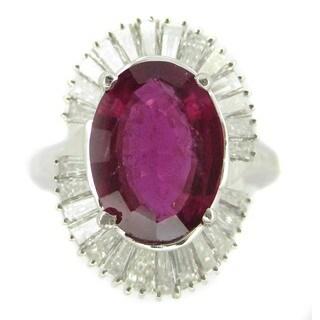 Kabella Luxe Platinum Pink Tourmaline 2 1/0ct TDW Diamond Cocktail Ring (G-H, SI2)