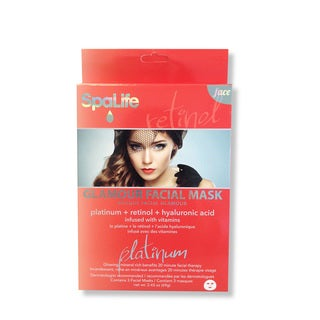 Spa Life Glamour Platinum Retinol Hyaluronic Acid Facial Mask (3 Treatments)