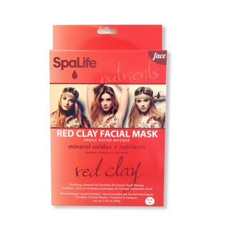 Spa Life Red Clay Minerals Oxides Nutrients Facial Mask (3 Treatments)