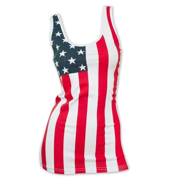 Shop Women s Patriotic American Flag Tank Top - Free Shipping On Orders  Over  45 - Overstock - 10461089 fda34e476d
