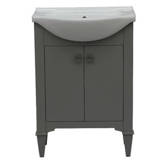 Legion Furniture 24-inch Grey Single Sink Vanity with Mirror