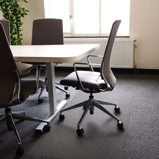 Cleartex XXL Polycarbonate Rectangular General Office Mat For All Pile Carpets (48 x 118)